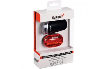 Infini Lighting twinpack, Luxo 3 front with Vista 5 LED rear